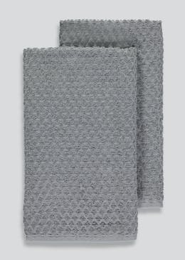 2 Pack Diamond Terry Tea Towels (70cm x 50cm)