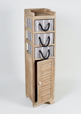 Nomad Wooden Storage Tower (103cm x 29cm x 24cm)