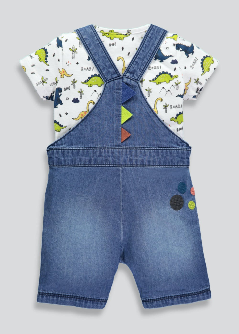 dc40f3c73aee Boys Dinosaur Denim Dungaree   Top Set (Newborn-18mths) – – Matalan