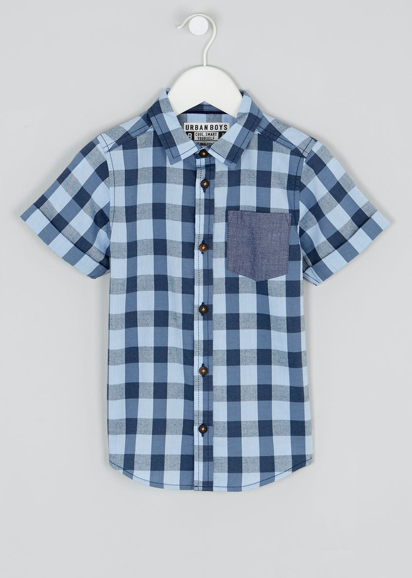 Boys Short Sleeve Oxford Check Shirt (4-13yrs)