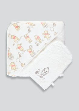 Unisex Winnie the Pooh Fleece & Towelling Cuddle Wrap (One Size)