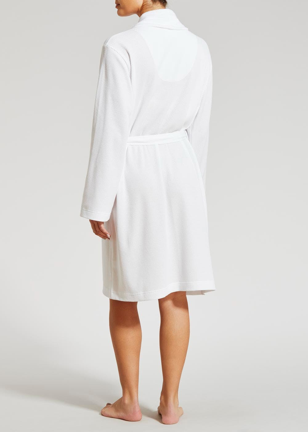 Waffle Dressing Gown – White – Matalan
