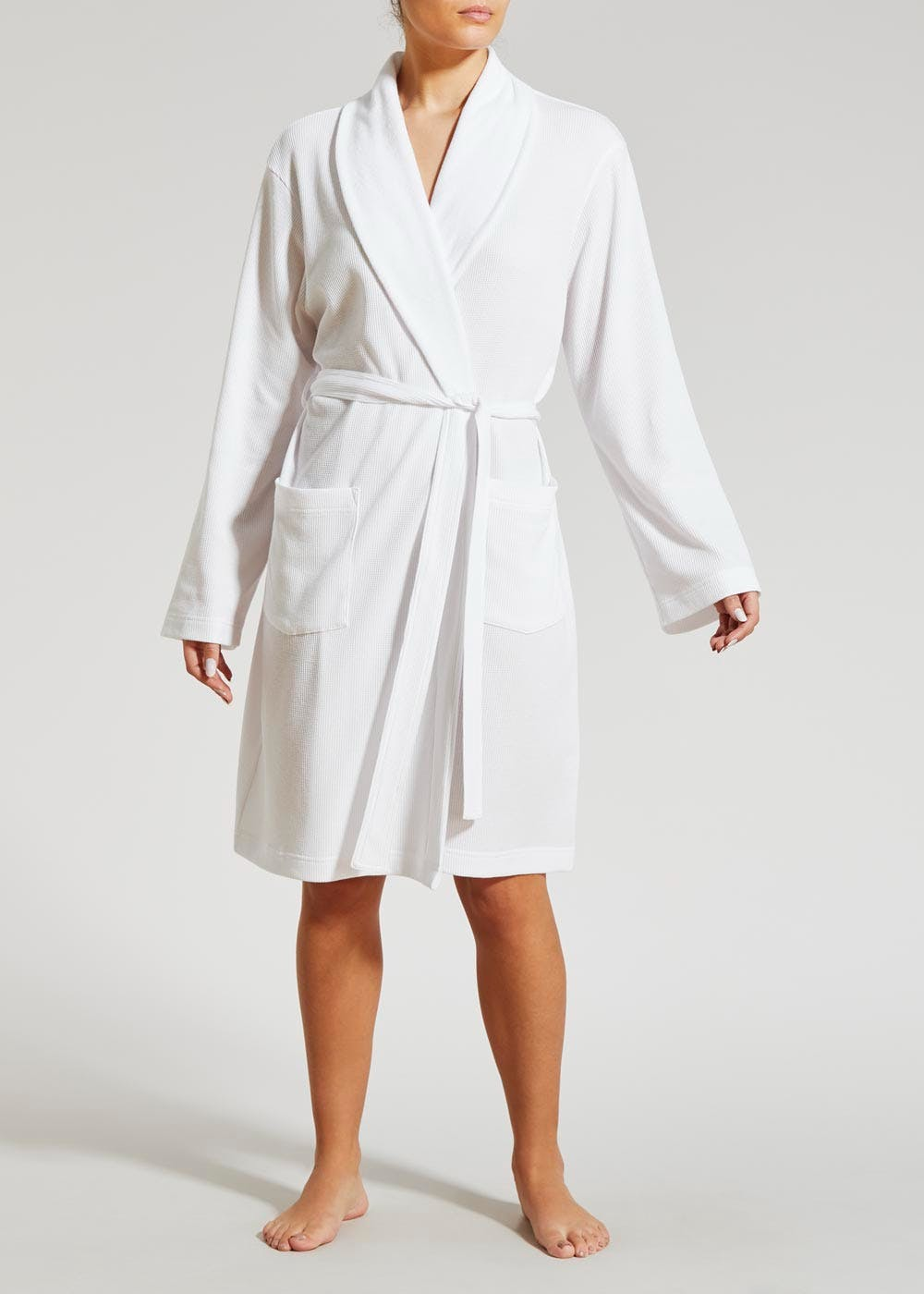 Waffle Dressing Gown White Matalan