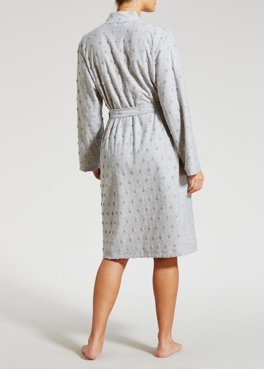 Spot Towelling Dressing Gown