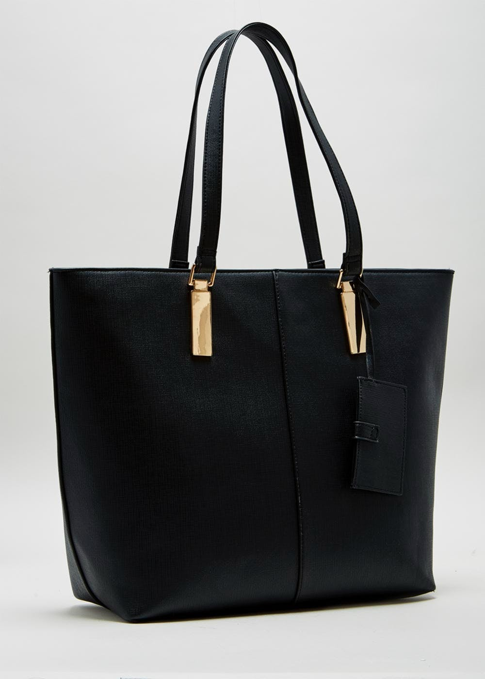Structured Envelope Charm Tote Bag