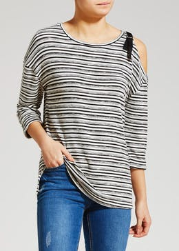 One Shoulder Stripe Snit Top