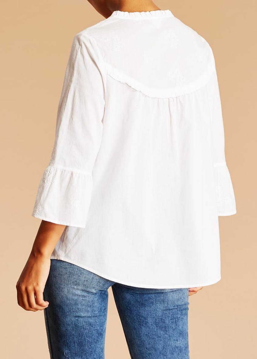 Falmer Embroidered Bell Sleeve Shirt