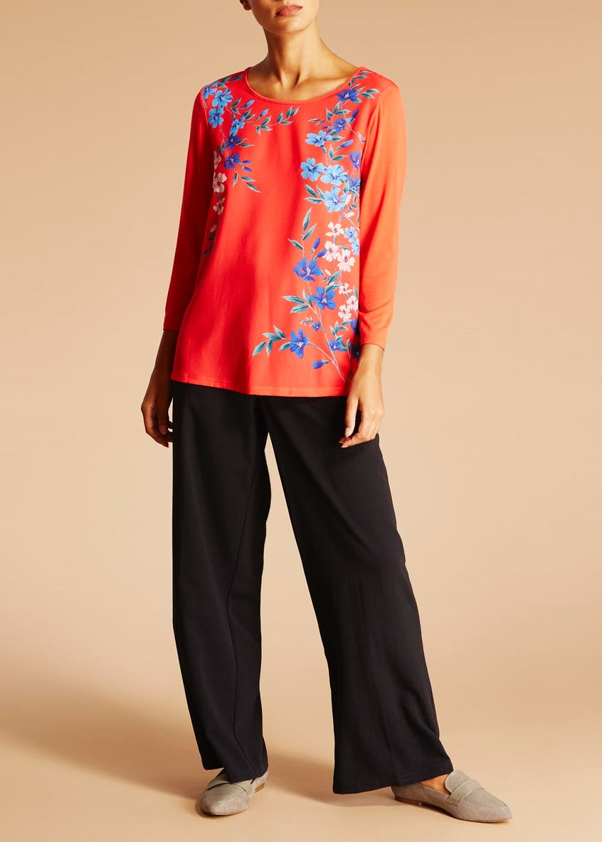 Floral Woven Front Top