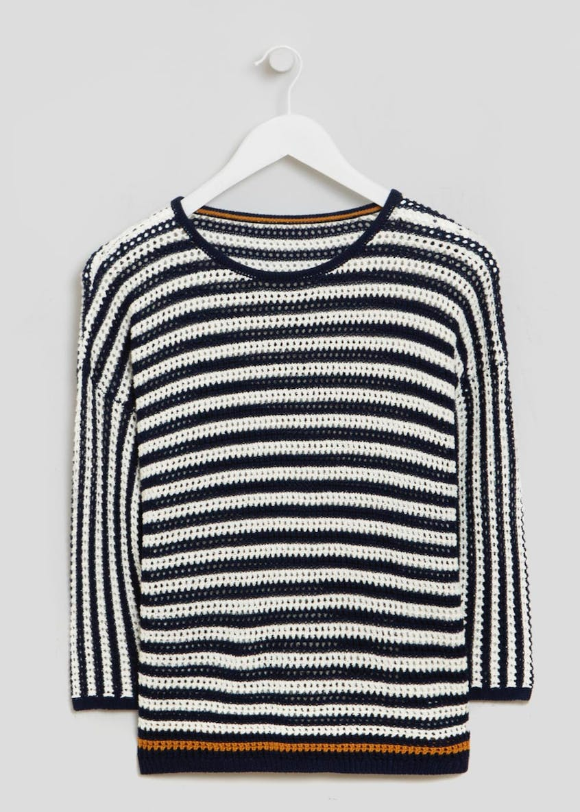 Stripe Open Stitch Jumper