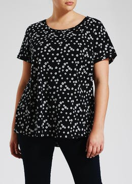 Papaya Curve Floral Short Sleeve T-Shirt