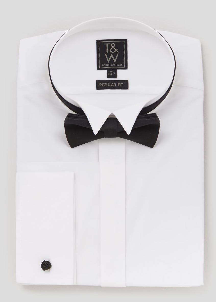 Regular Fit Dinner Shirt & Bow Tie Set