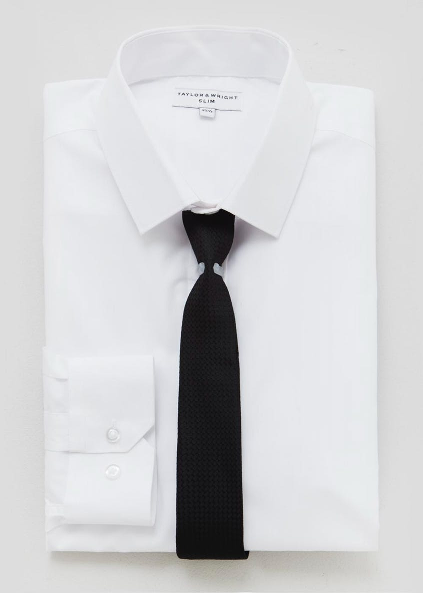 Slim Fit Shirt & Tie Set