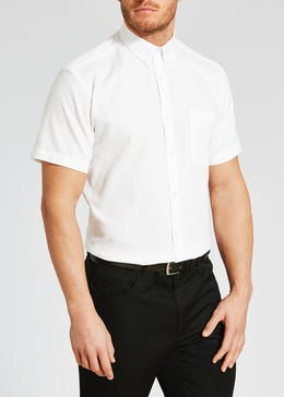 100% Cotton Regular Fit Short Sleeve Oxford Shirt