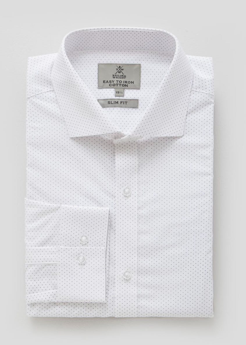 100% Cotton Polka Dot Slim Fit Shirt