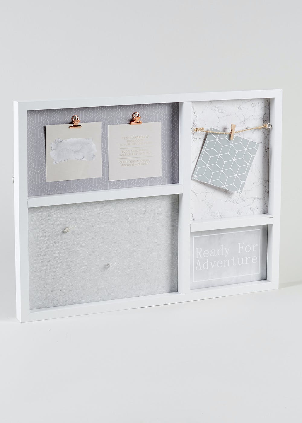 Multi Aperture Photo Frame 50cm X 39cm White Matalan