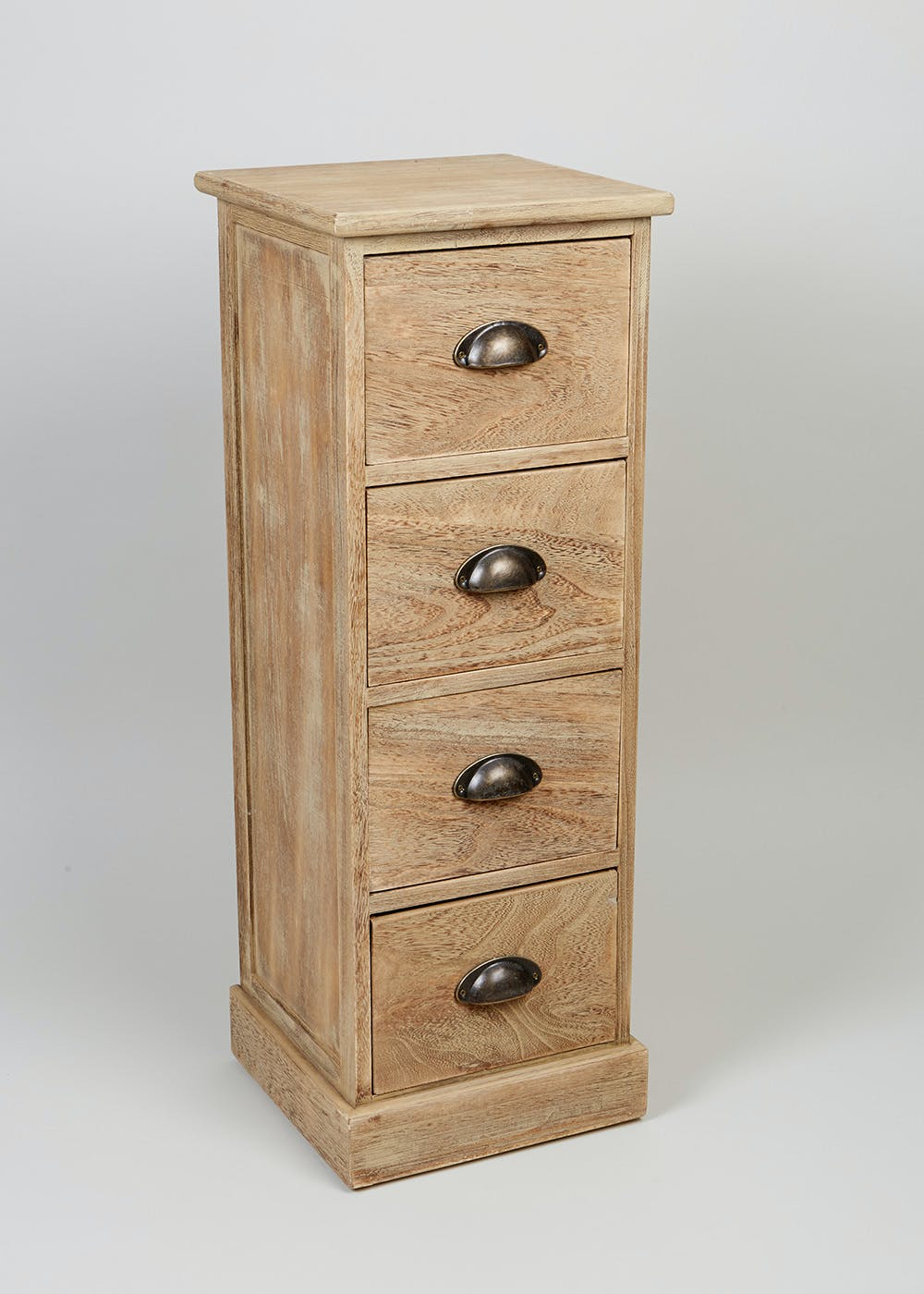 4 drawer wooden storage unit 80cm x 29cm x 25cm natural matalan