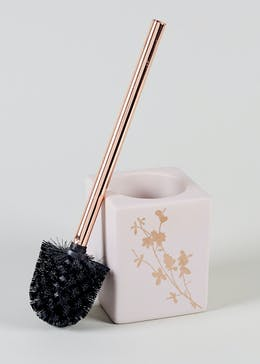 Floral Copper Toilet Brush (42cm x 11cm x 11cm)