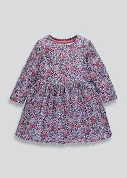 Girls Floral Jersey Dress (3mths-6yrs)