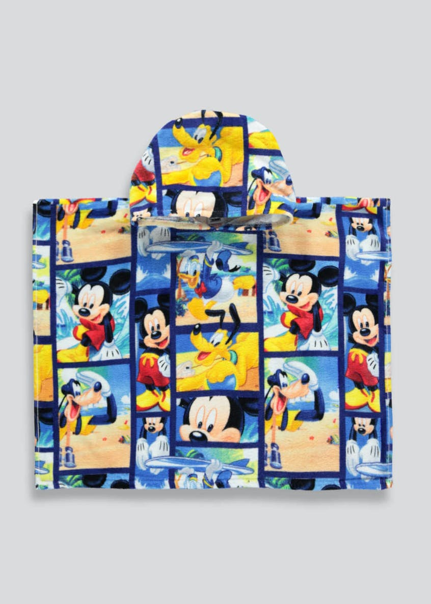 Kids Mickey Mouse Hooded Towel Poncho (One Size)