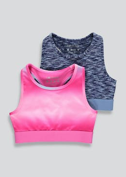 Girls Souluxe 2 Pack Sports Crop Tops (4-13yrs)