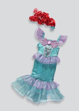 Kids Disney Princess Ariel Little Mermaid Dress Up Costume (3-9yrs)