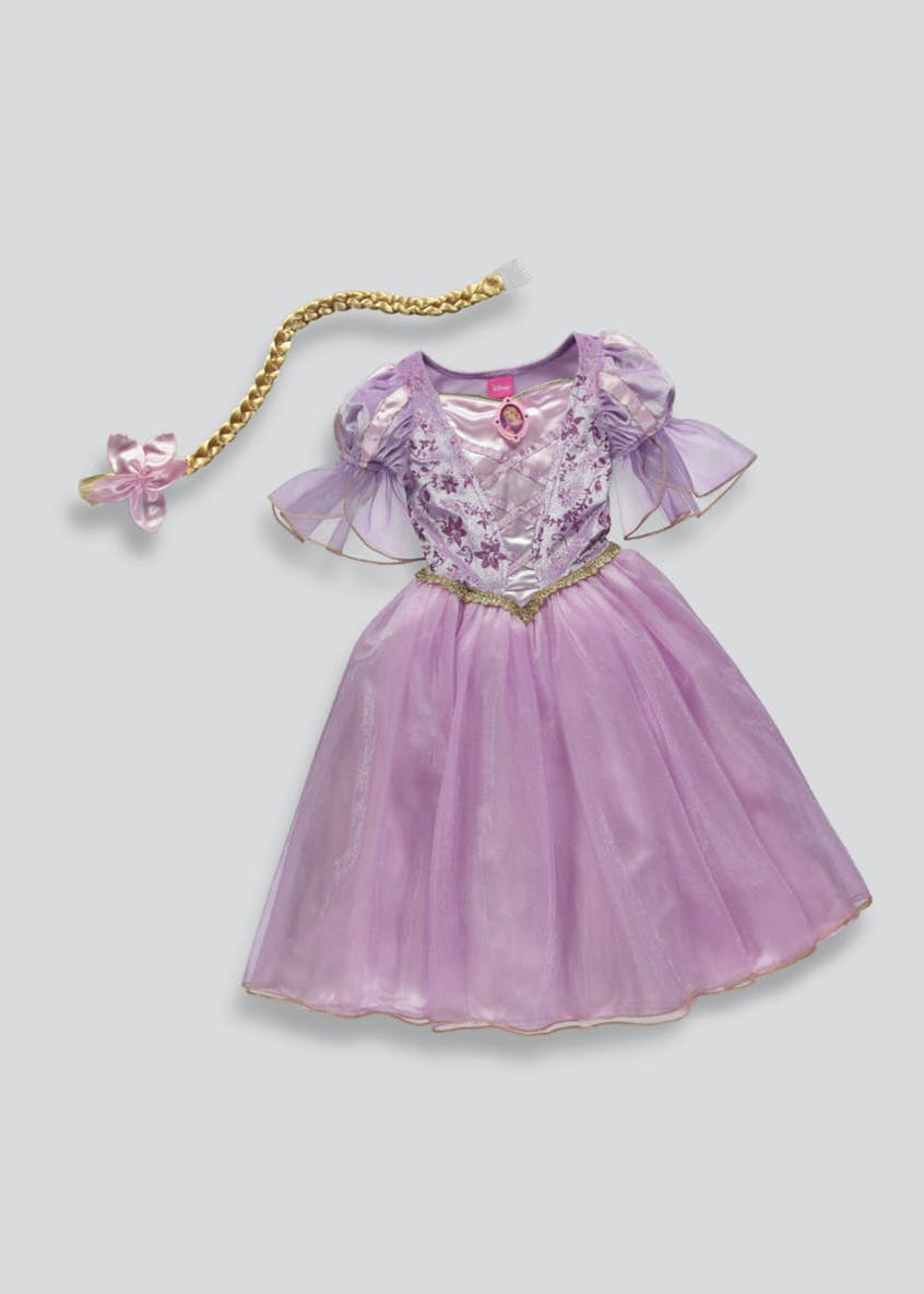 Kids Disney Princess Rapunzel Dress Up Costume (3-9yrs)