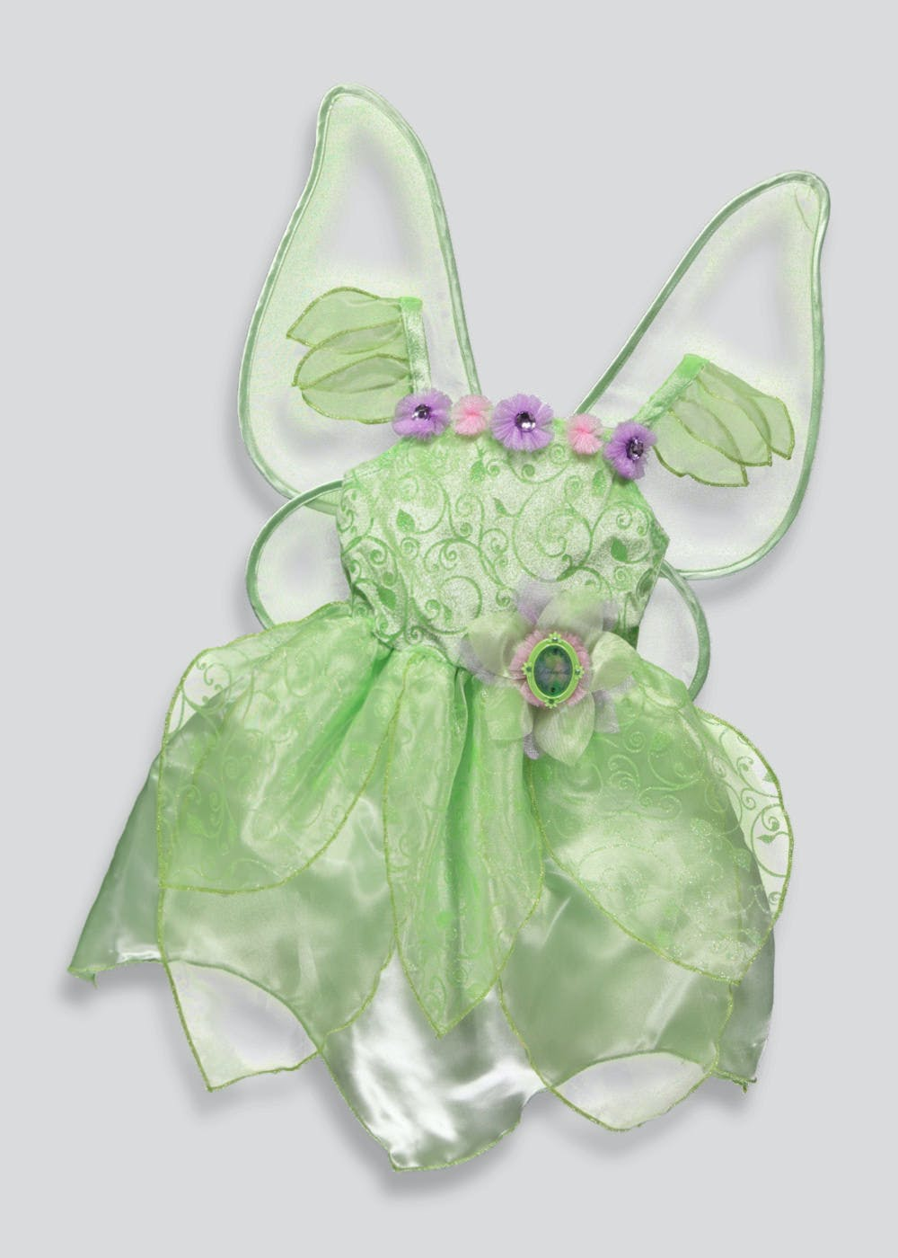 afffb5e3d0e75 Kids Disney Fairies Tinkerbell Fancy Dress Costume (3-9yrs) – – Matalan
