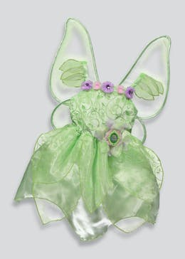Kids Disney Fairies Tinkerbell Fancy Dress Costume (3-9yrs)