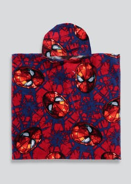Kids Spider-Man Hooded Towel Poncho (One Size)