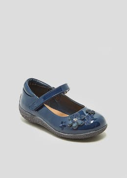 Girls Flower Patent Ballet Shoes (Younger 4-12)