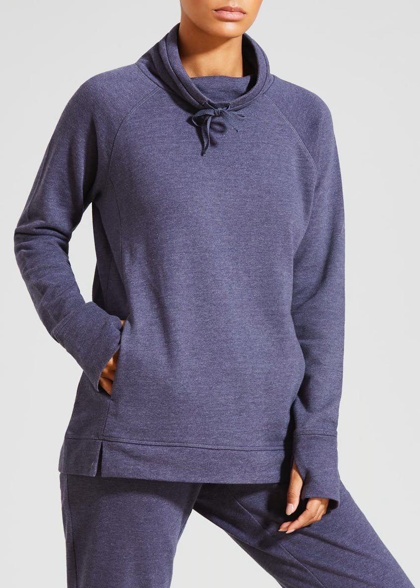 Souluxe Cowl Neck Sports Sweatshirt