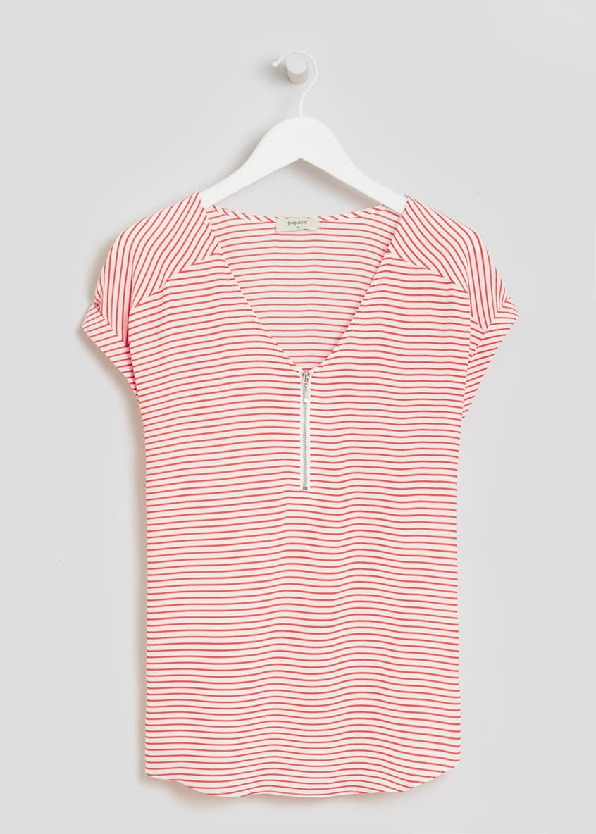 Stripe Zip Box Top