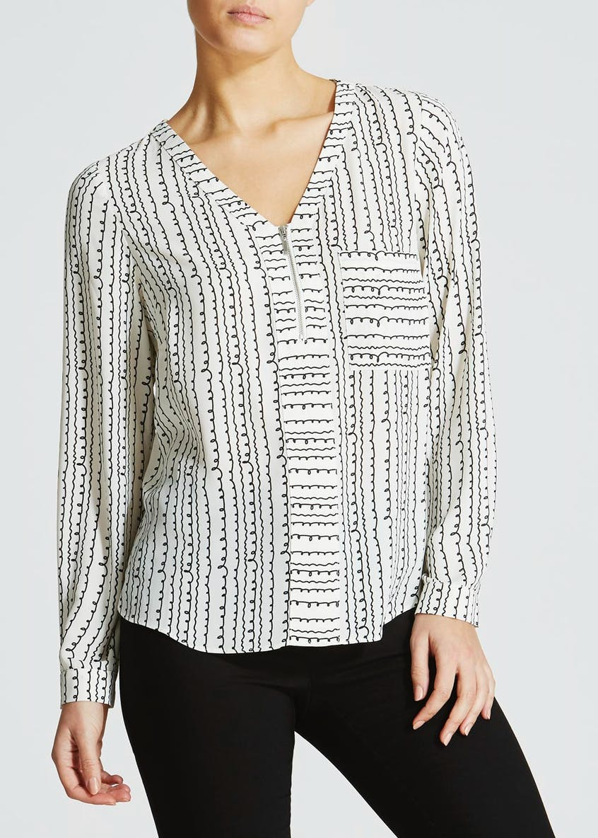 Zip Utility Blouse