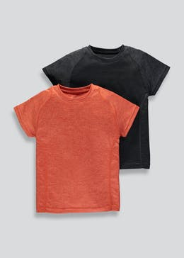 Boys Souluxe 2 Pack Sports T-Shirts (4-13yrs)