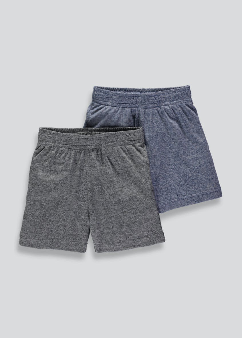Boys Souluxe 2 Pack Jersey Sports Shorts (4-13yrs)
