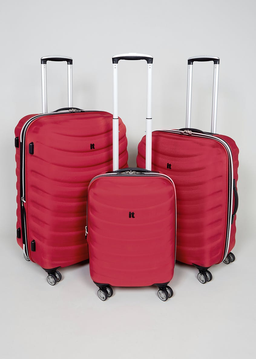 IT Luggage Frameless 4 Wheel Suitcase