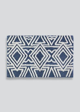 Geometric Tufted Bath Mat (80cm x 50cm)
