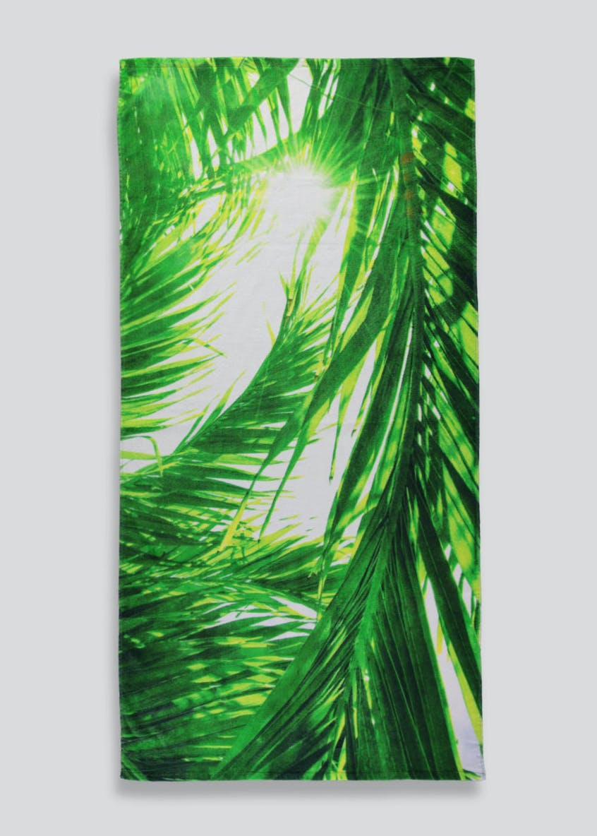 Tropical Leaf Beach Towel (160cm x 80cm)