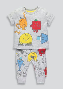 Unisex Mr. Men T-Shirt & Joggings Bottoms Set (Newborn-12mths)