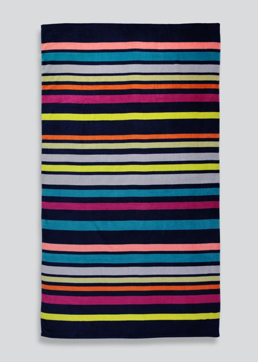 Oversized Stripe Beach Towel (180cm x 100cm)