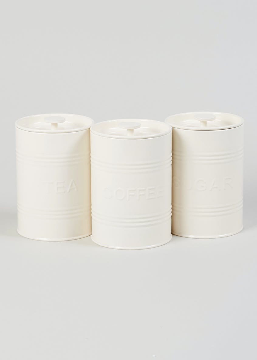 3 Pack Kitchen Canisters (16cm x 12cm)