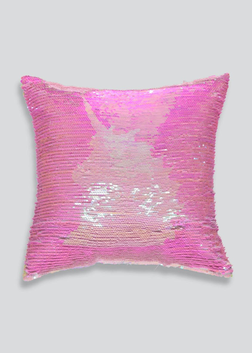 Two Tone Unicorn Sequin Cushion (35cm x 35cm)