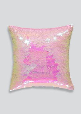 Sequin Unicorn Two Tone Cushion (35cm x 35cm)