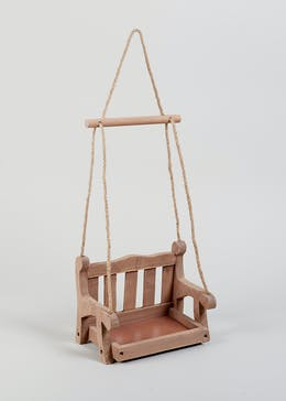 Wooden Swing Bird Feeder (23cm x 17cm x 15cm)