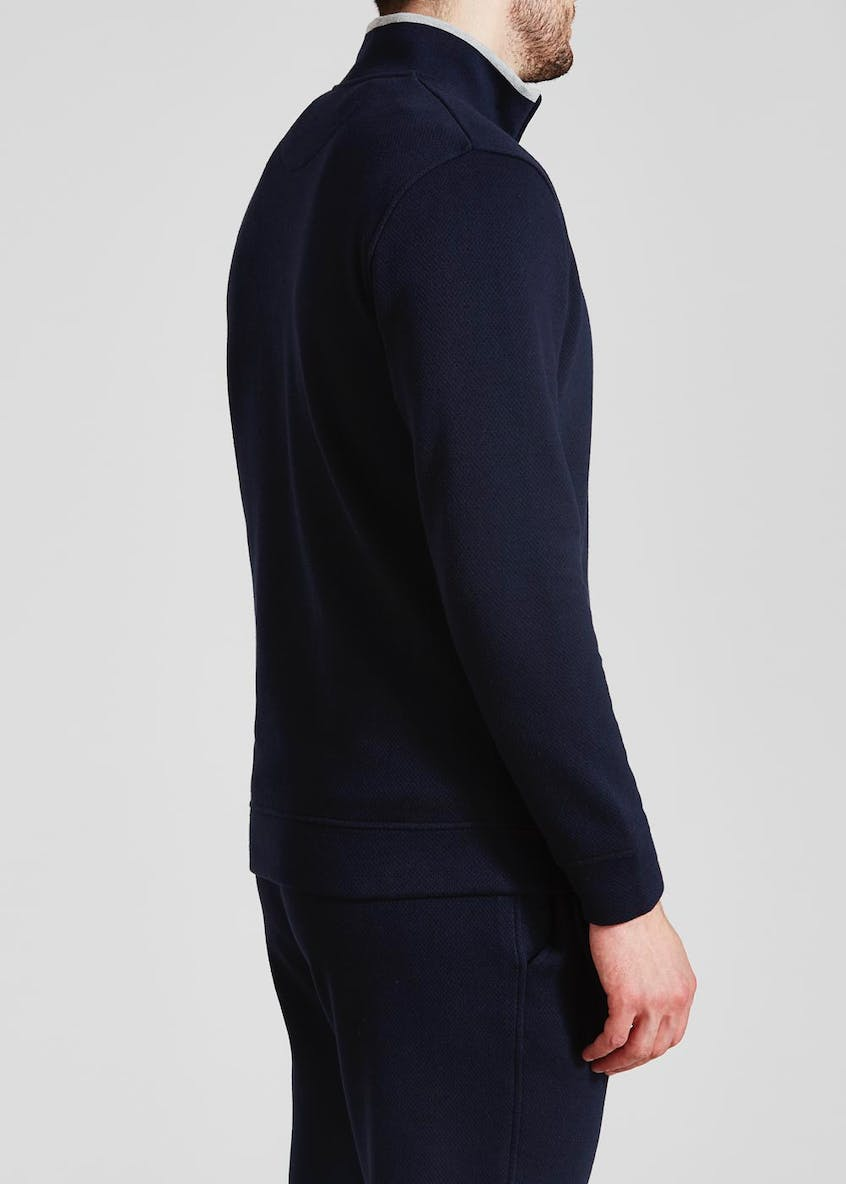 Pointelle Half Zip Sweatshirt