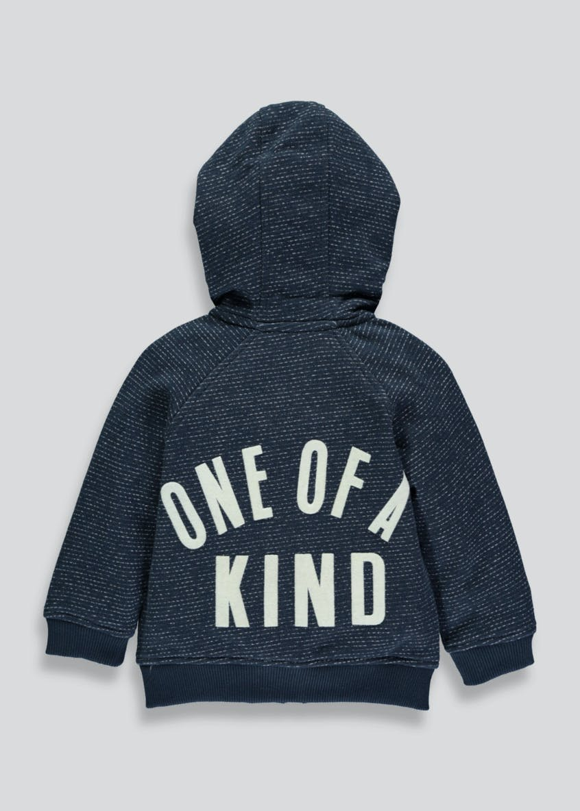 Boys Slogan Zip up Hoodie (6mths-6yrs)