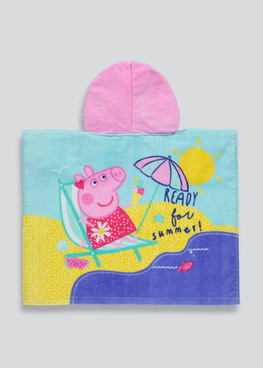 Kids Peppa Pig Hooded Towel Poncho (One Size)
