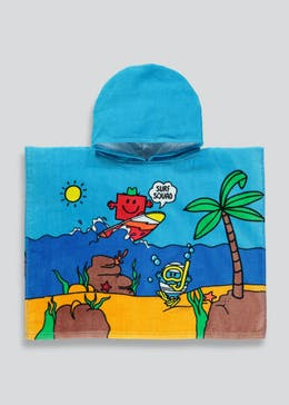 Kids Mr. Men Hooded Towel Poncho (One Size)