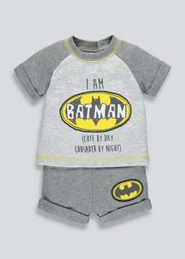 Unisex Batman T-Shirt & Shorts Set (Newborn-12mths)