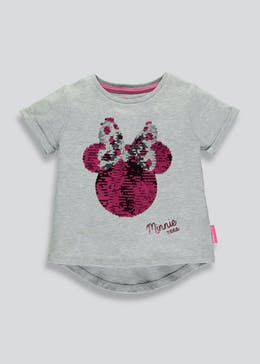 Kids Minnie Mouse Two Way Sequin T-Shirt (3-9yrs)